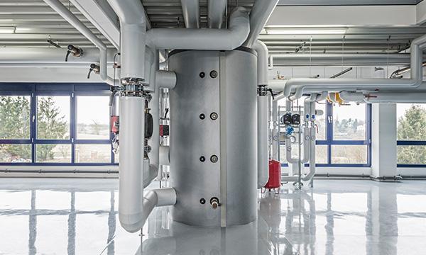 Bild von einem Warmwassertank