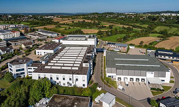 Firmensitz Birkenfeld, moderne Industriekomplexe und Logistikzentrum mit 29.000 m²